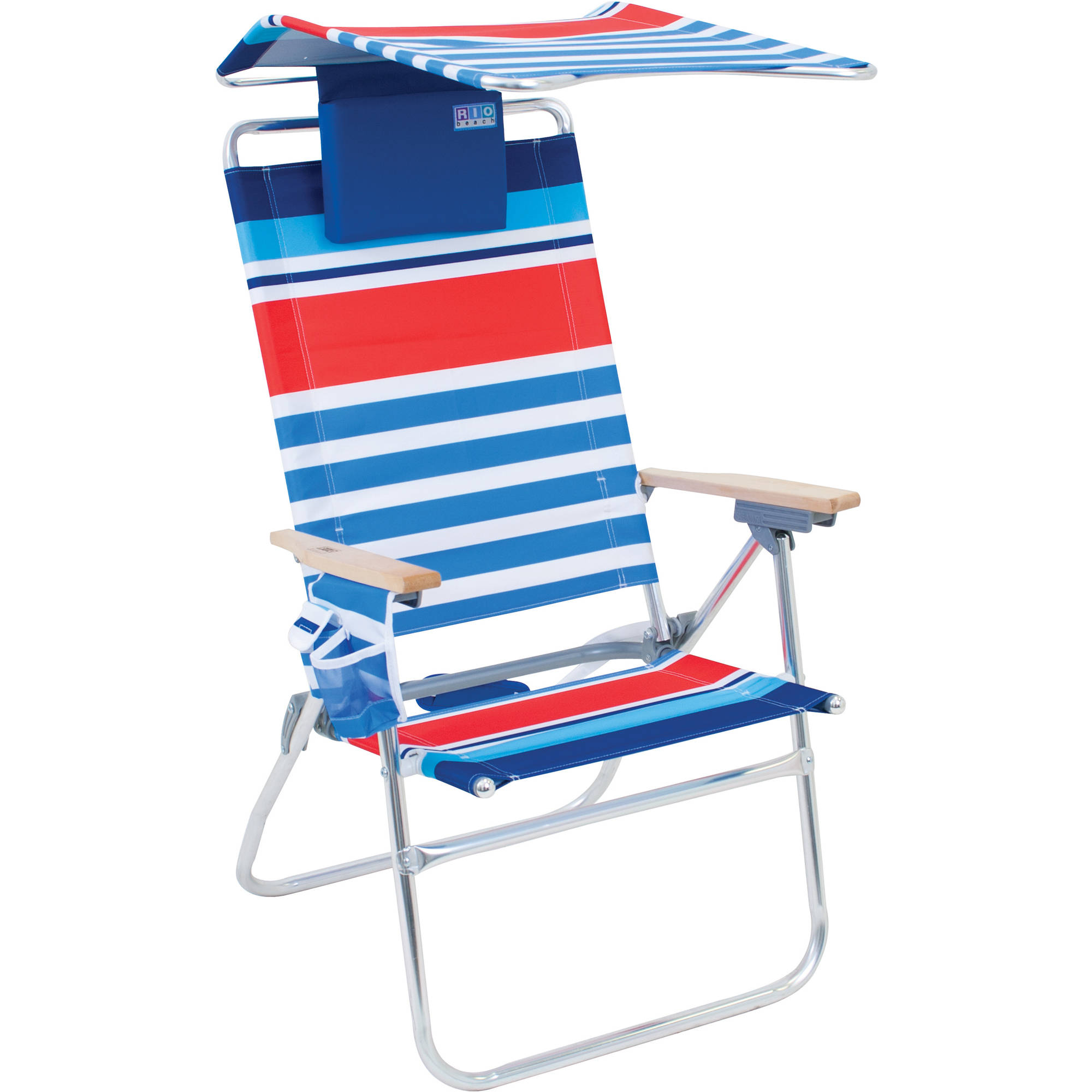Rio HiBoy 7Position Beach Chair with Adjustable Canopy