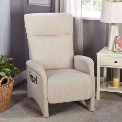 Reclining Accent Chair Titan Massage Simple Living Addin Beige Small Walmart Com