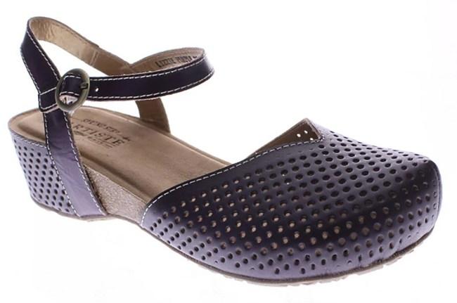 L'Artiste Women's Lizzie Fashion Sandals Purple Leather Latex Rubber 36 M EU 5.5-6 M