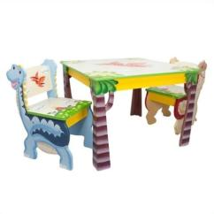 Walmart Childrens Table And Chairs Makeup For Professional Artists Fantasy Fields Hand Painted Dinosaur Kingdom Set Of 2 - Walmart.com