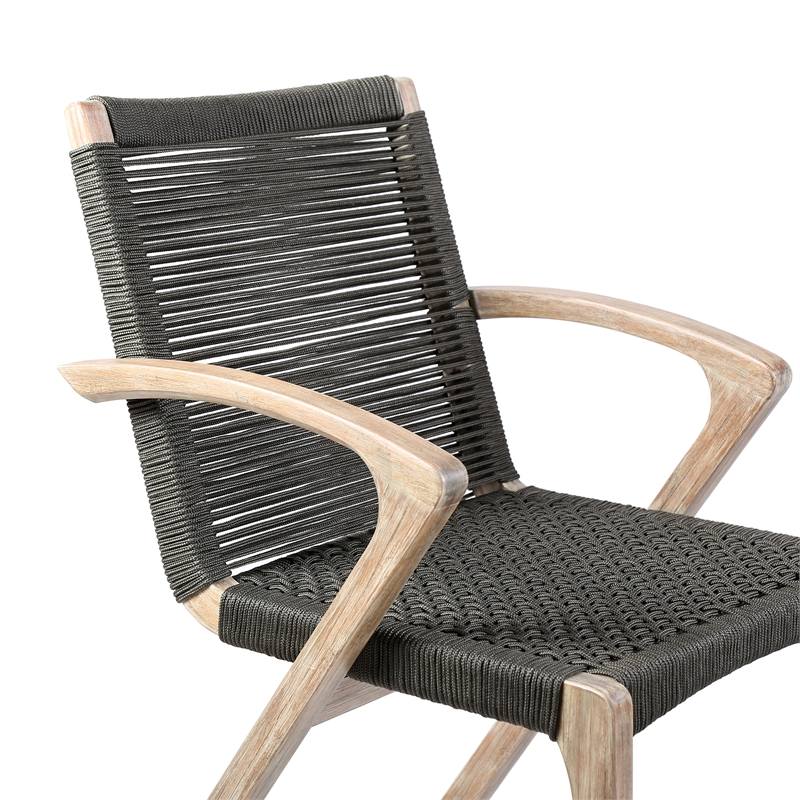 rope outdoor patio dining chairs set