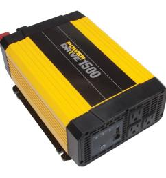 powerdrive 1500 watt dc to ac power inverter with usb port 3 ac outlets rppd1500 walmart com [ 1000 x 1000 Pixel ]