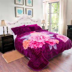 Bedroom Chair With Blanket Outdoor Dining Table And Covers Plush Fleece Throw For Sofa Couch Queen Size Bed Thick Warm Raschel Mink 76 X86 Floral Purple 5lb Walmart Com