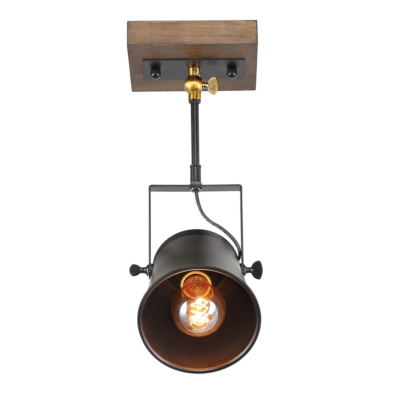 lnc adjustable track lighting industrial wood canopy track light pendant