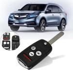 New Uncut Entry Keyless Remote Flip Key Fob Case Shell For Acura Tl Tsx Accord Kk 2620 N5f0602a1a Walmart Com Walmart Com
