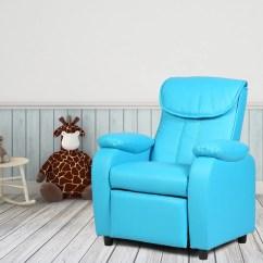 Kids Living Room Furniture L Shaped Sofa Designs Recliner Chair Armrest Couch Children Home Blue