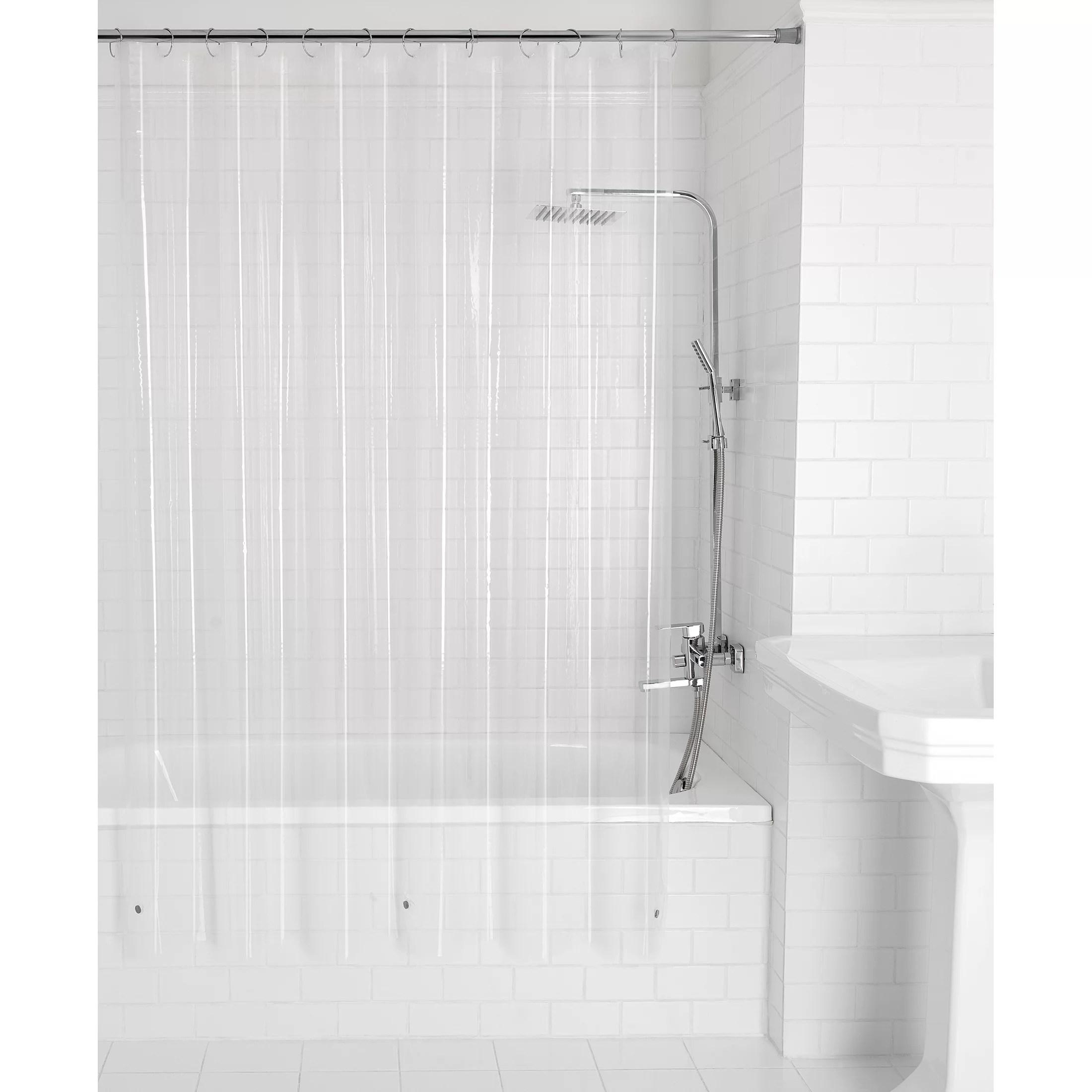mainstays light weight frosty shower liner 1 each