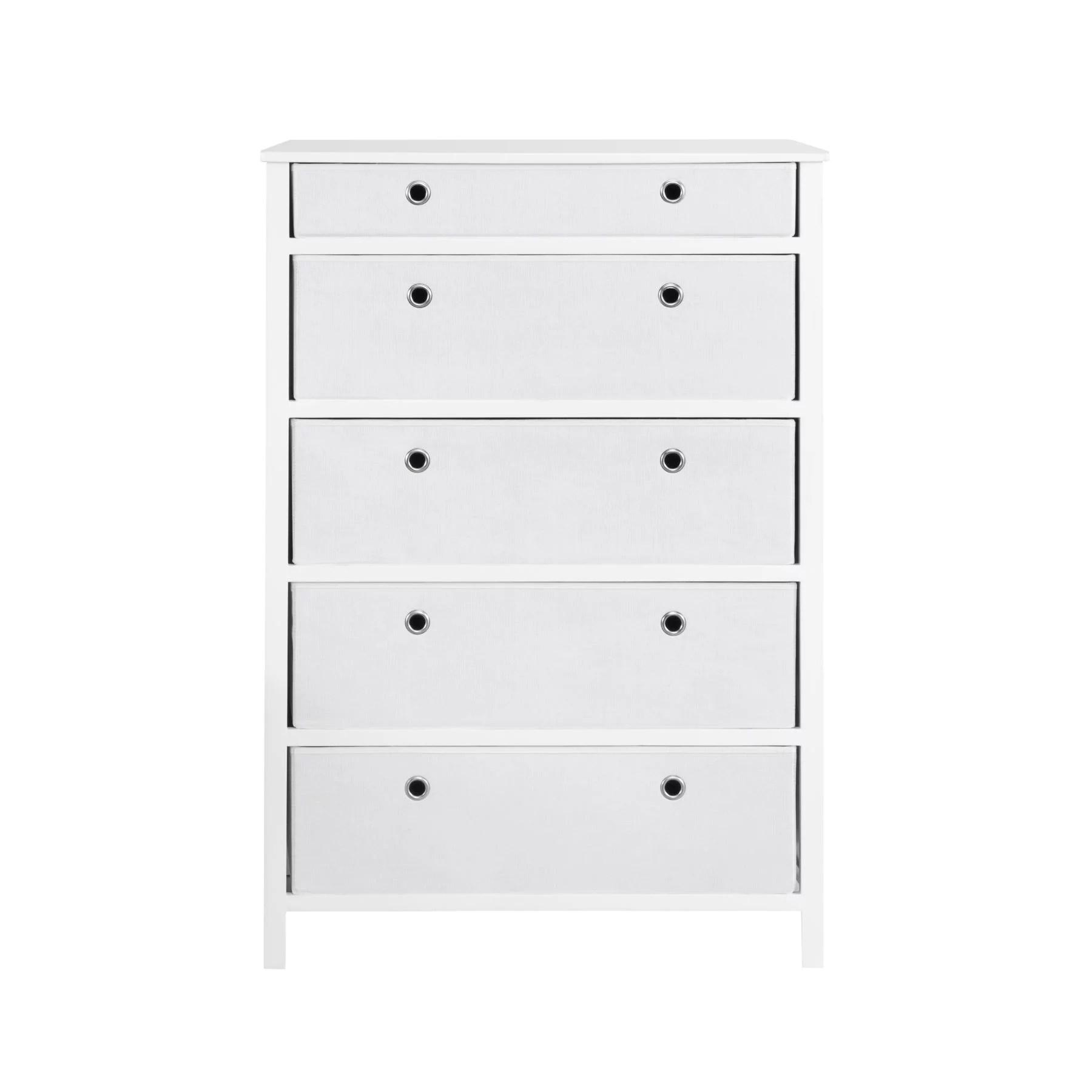 traditional elegance ezhome foldable furniture 5 drawer tall dresser 45 x 31 x 19 white