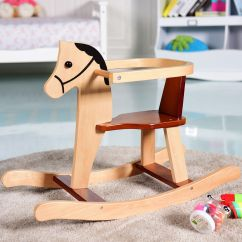 Animal Rocking Chair Set Of 6 Dining Chairs Gymax Baby Kids Toy Wooden Horse Rider Bar Security Boys Girls Walmart Com