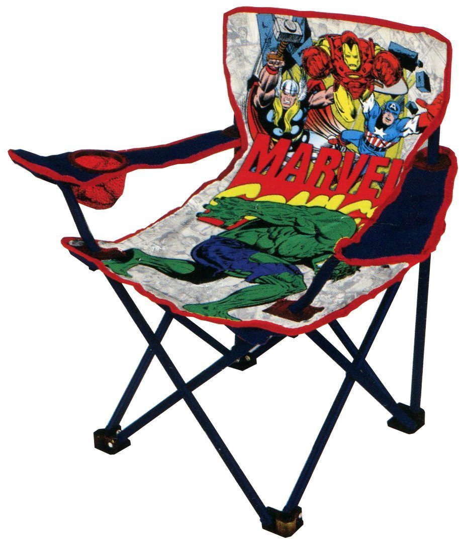 youth folding chair dining room chairs sets marvel avengers with armrest and cup holder