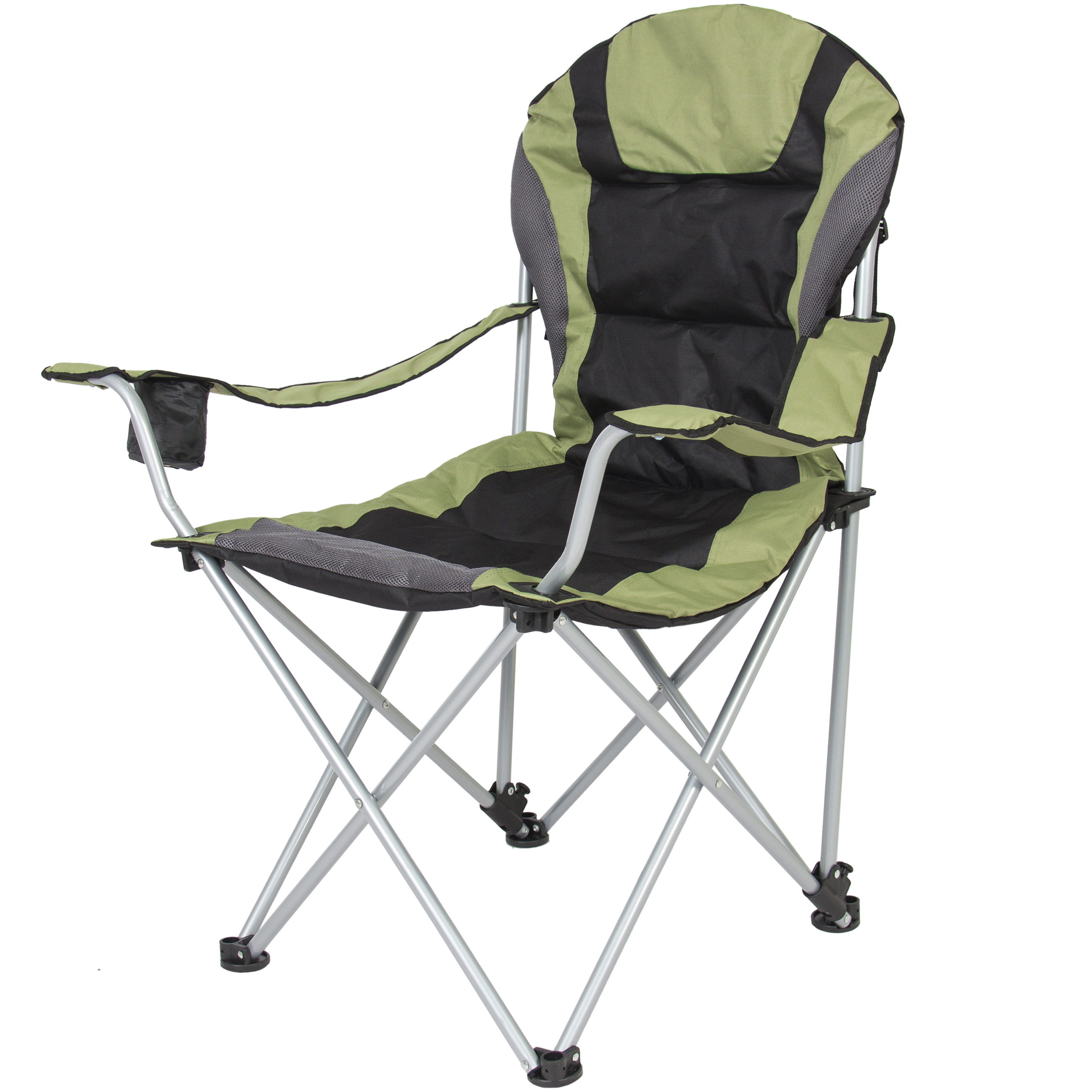 portable beach chair office description best choice products deluxe padded reclining camping fishing w carrying case green walmart com