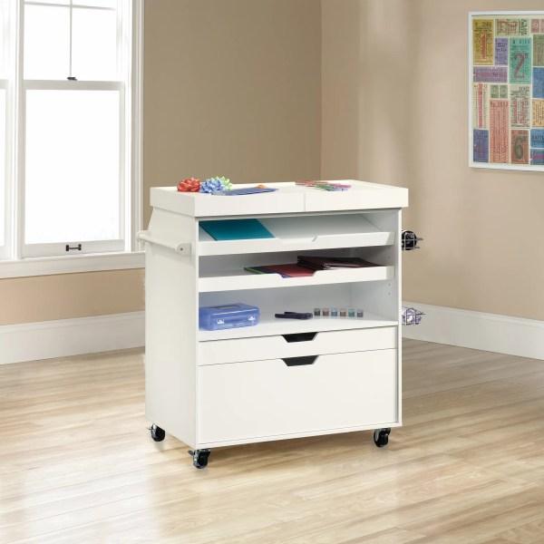 Sauder Select Craft Storage Cart White