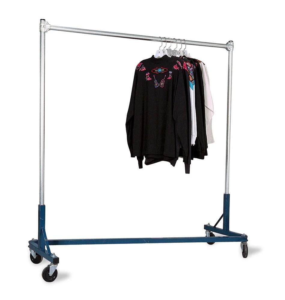 super heavy duty single rail z truck clothing rack rack holds 500lbs