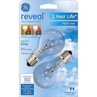 GE Reveal 60 watt Clear A15 Incandescent Ceiling Fan Bulb ...