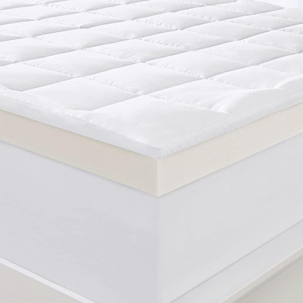 serta 4 pillow top and memory foam mattress topper king