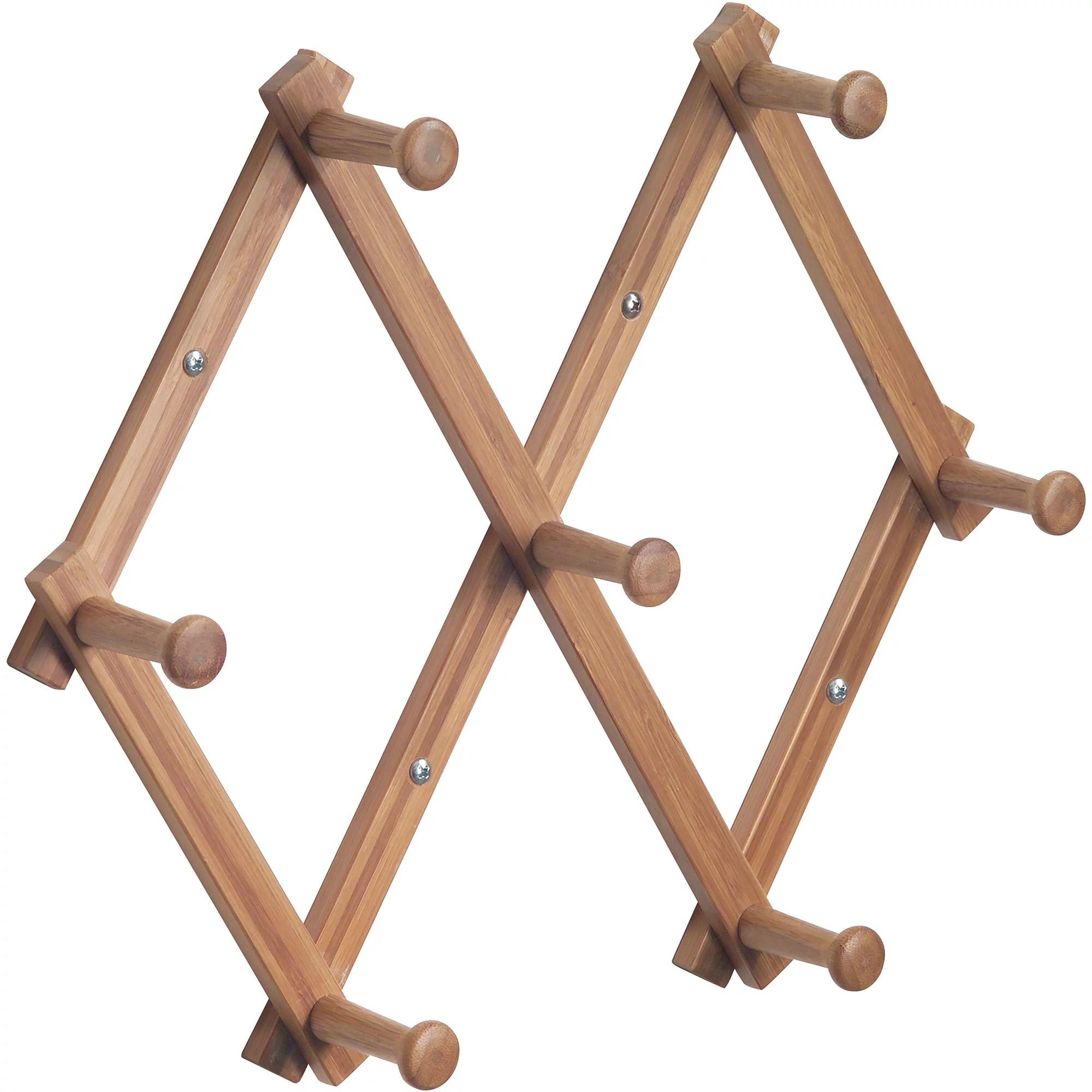 interdesign wood expandable rack bamboo walmart com