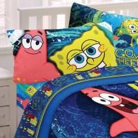 Spongebob Squarepants Twin Bed Sheet Set Hyper Bob Bedding ...
