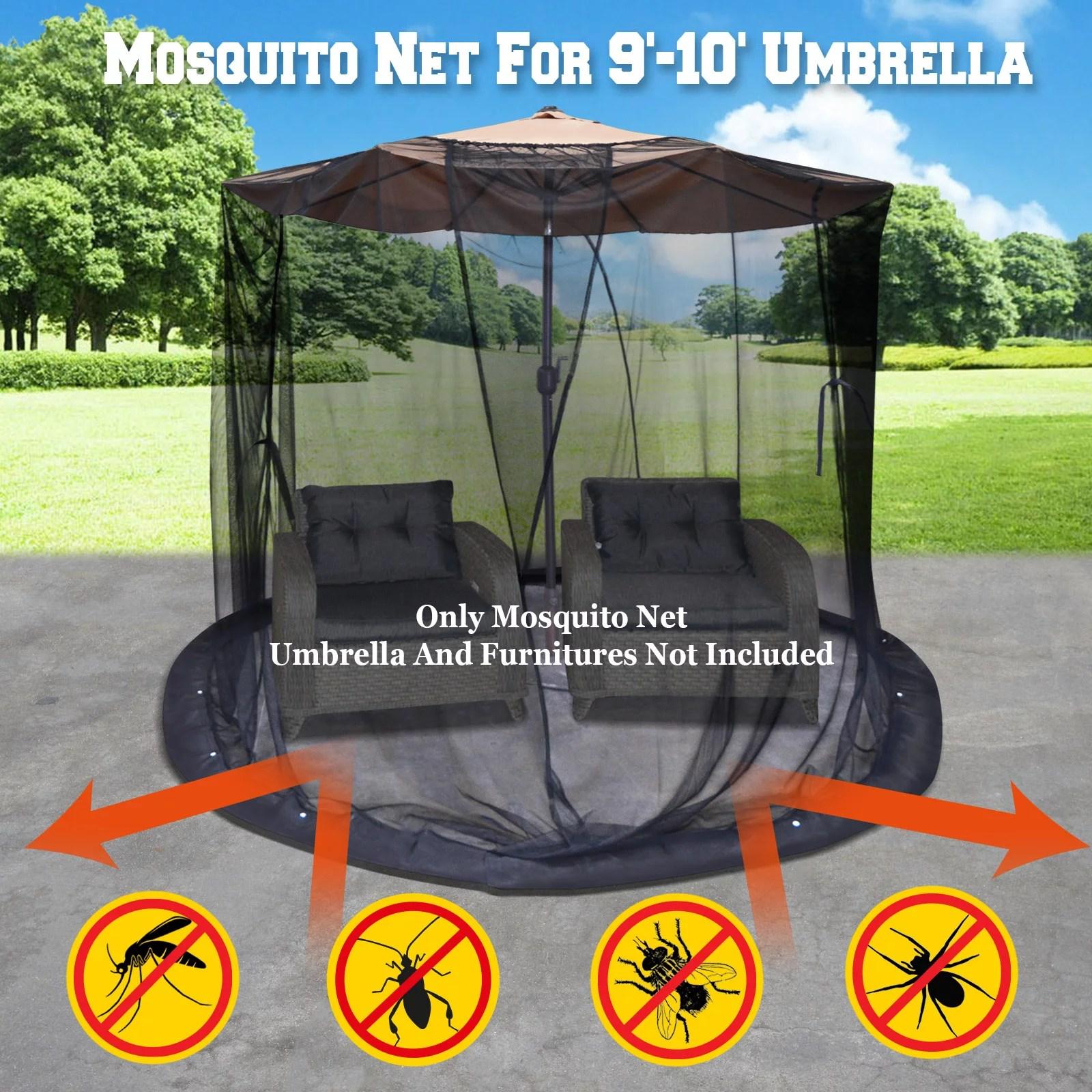 strong camel mosquito net for 9 or 10 patio umbrella set screen house black bug insect net walmart com