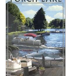 torch lake michigan pontoon boats lantern press poster 16x24 acrylic wall art gallery quality walmart com [ 1333 x 2000 Pixel ]