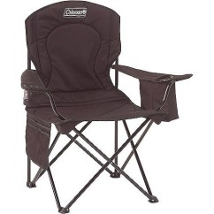 Folding Quad Chair Swivel Stopper Coleman Oversized With Cooler Pouch Walmart Com