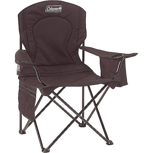 coleman camping oversized quad chair with cooler ergonomic gaming footrest pouch - walmart.com