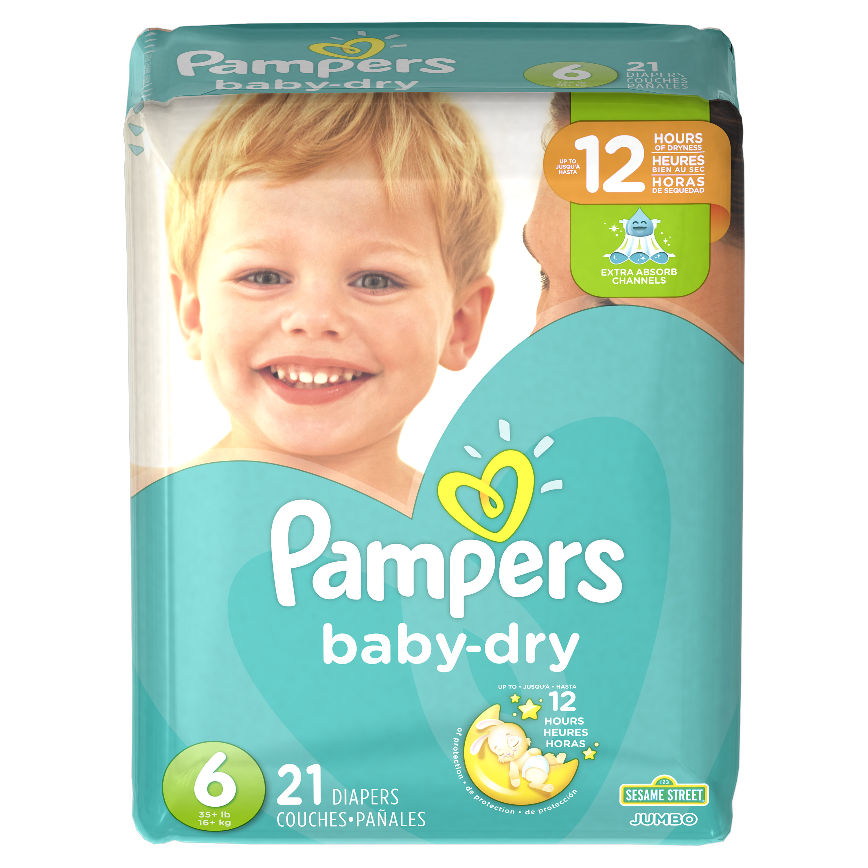 Pampers Baby-Dry Extra Protection Diapers Size 6 21 Ct ...