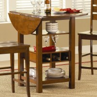 Ridgewood Counter Height Drop Leaf Dining Table with ...