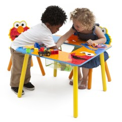 Elmo Table And Chairs Pink Stool Chair Sesame Street Set 48 Delta Kids