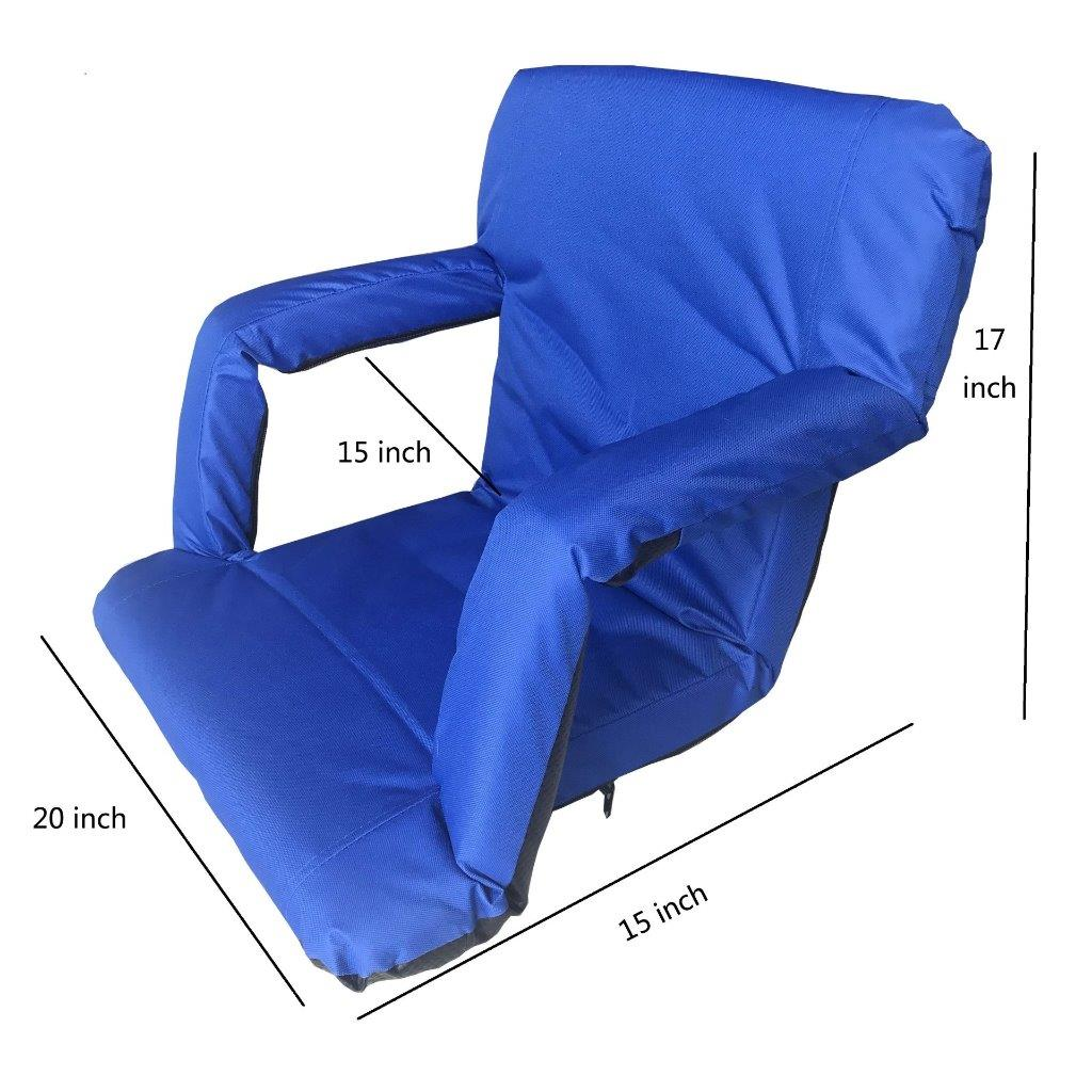 portable folding floor chairs cheap desk for sale elegantoss back arm rest padded cushion stadium bleachers benches seats meditation tv picnic games walmart com