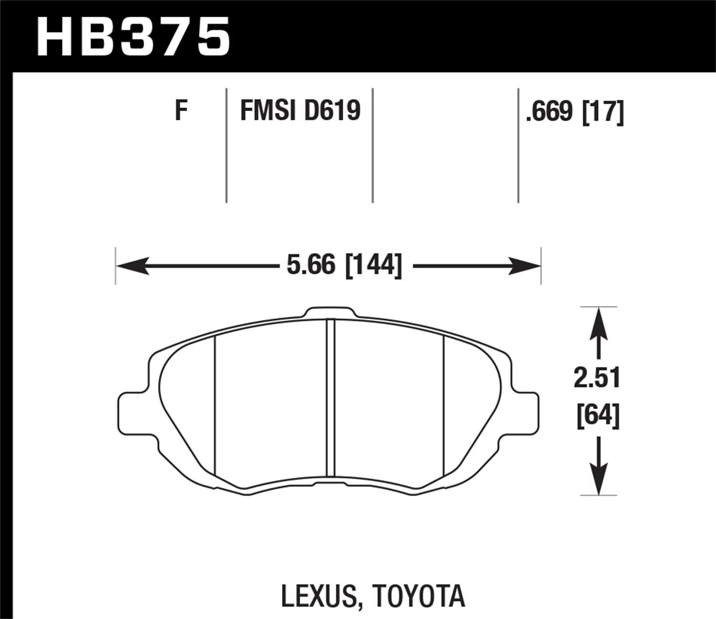 Hawk 93-05 Lexus GS300 / 98-00 GS400 / 01-05 GS430 / 02-05