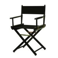 "18"" Director's Chair Black Frame-Black Canvas - Walmart.com"
