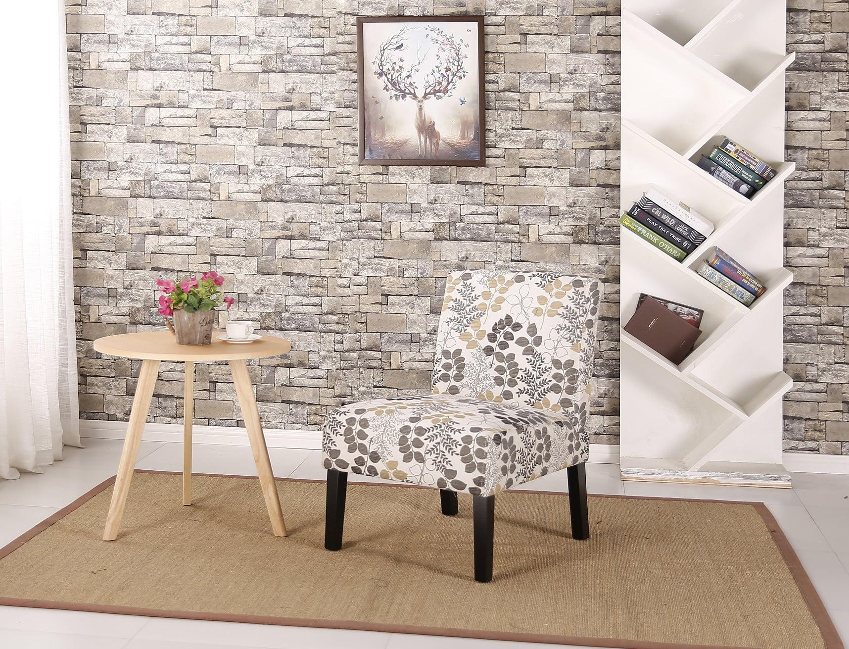 Ocean Bridge Furniture Daphne Slipper Chair Leaf Pattern
