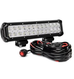 nilight zh007 led light bar 12 inch 72w spot flood combo with off road wiring harness 2 years warranty walmart com [ 1001 x 1001 Pixel ]