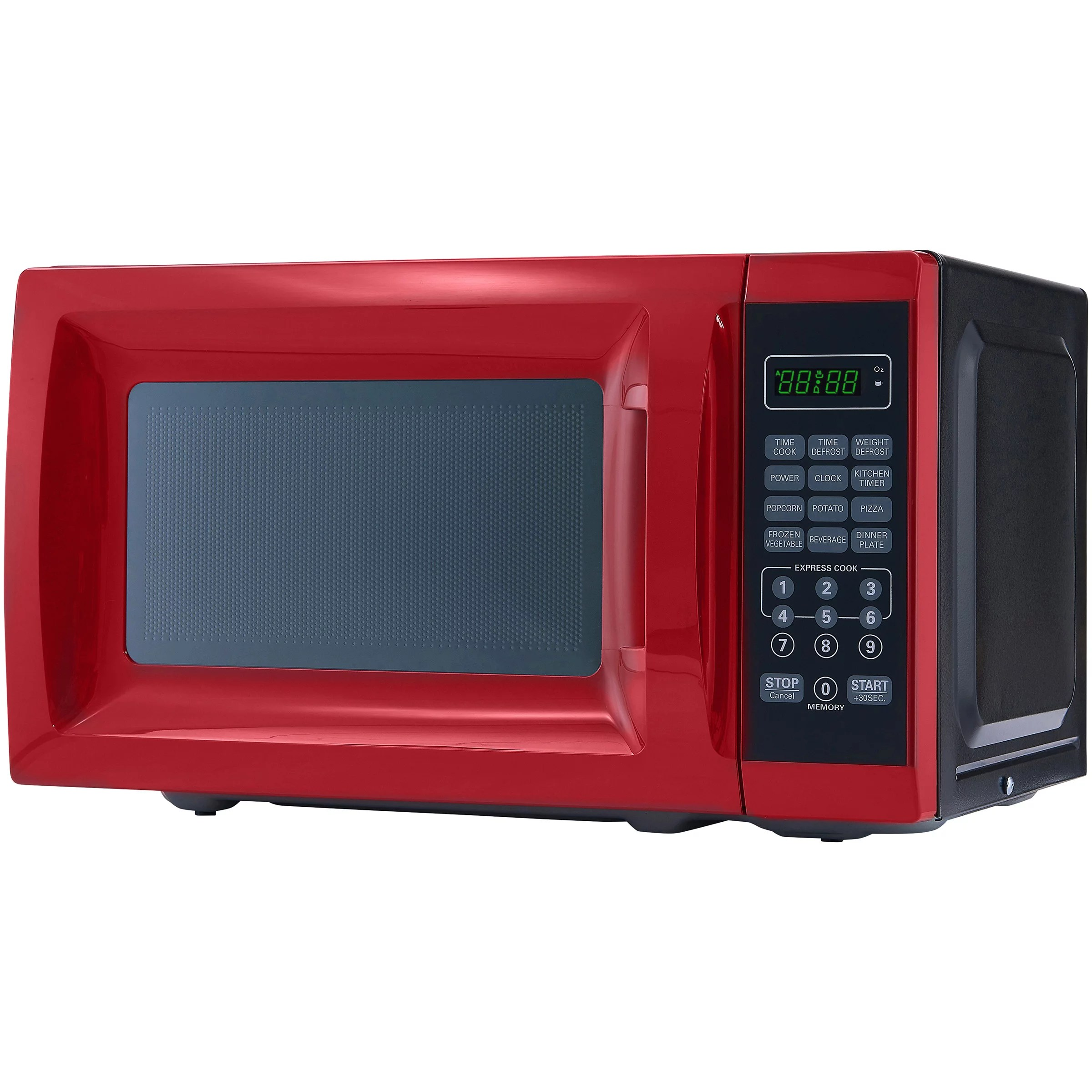 mainstays 0 7 cu ft 700w red microwave oven