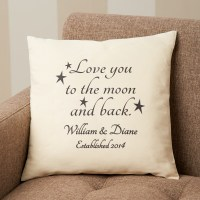 Personalized Love You To the Moon and Back Accent Pillow ...