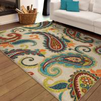 Orian Rugs Indoor/Outdoor Paisley Wyndham Multi-Colored ...