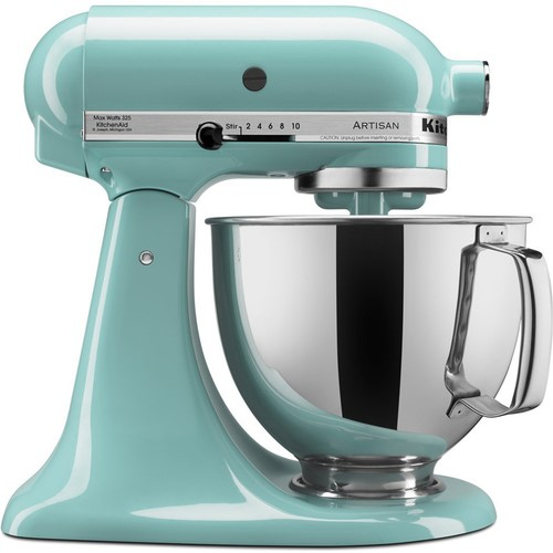 kitchen aid 5 qt mixer prep tables for kitchenaid ksm150psaq artisan series quart tilt head stand aqua sky walmart com