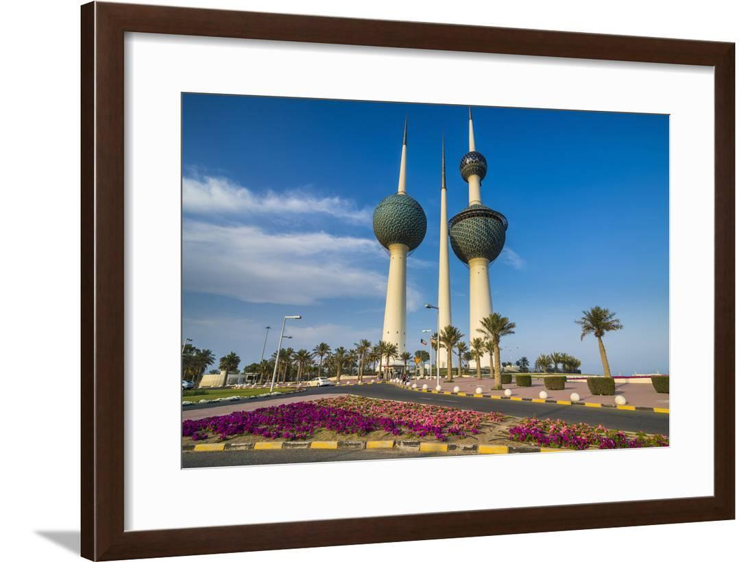 Landmark Kuwait Towers In Kuwait City Kuwait Middle East