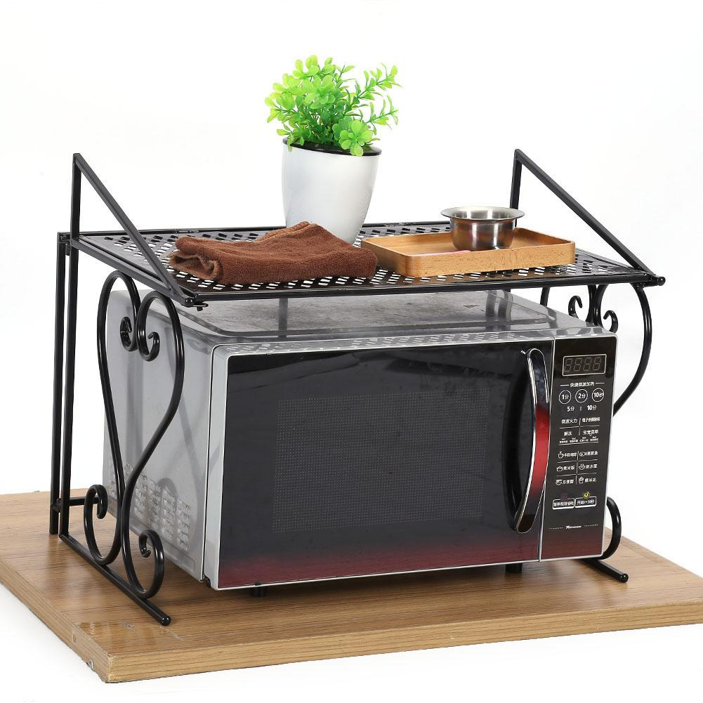 kitchen counter rack deals yosoo metal folding microwave shelf and cabinet