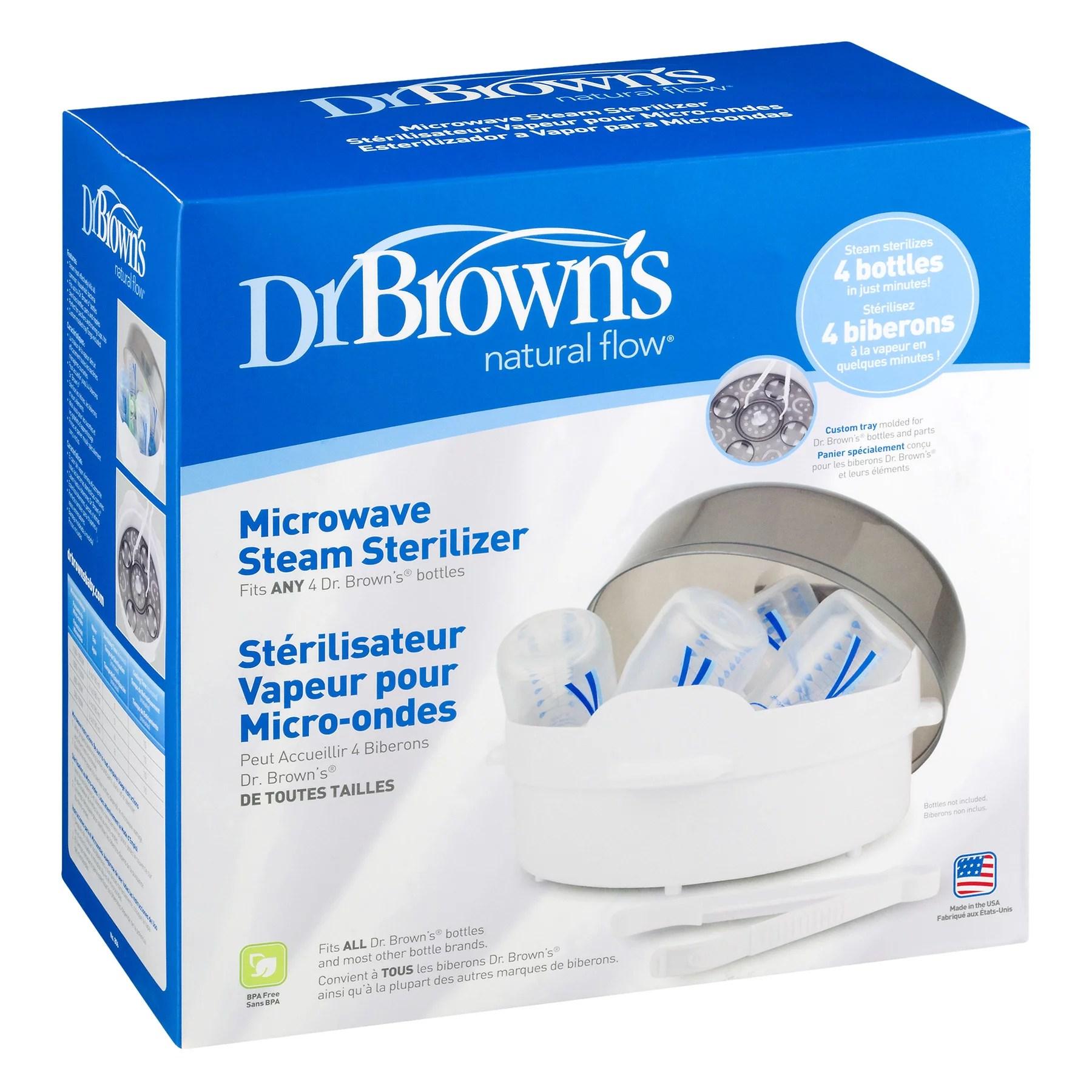 dr brown s baby bottle microwave steam sterilizer