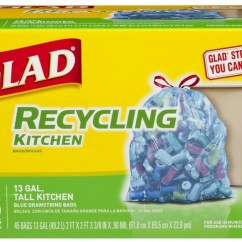 Kitchen Garbage Bags Renovation Los Angeles Glad Recycling Tall Drawstring Trash Clear