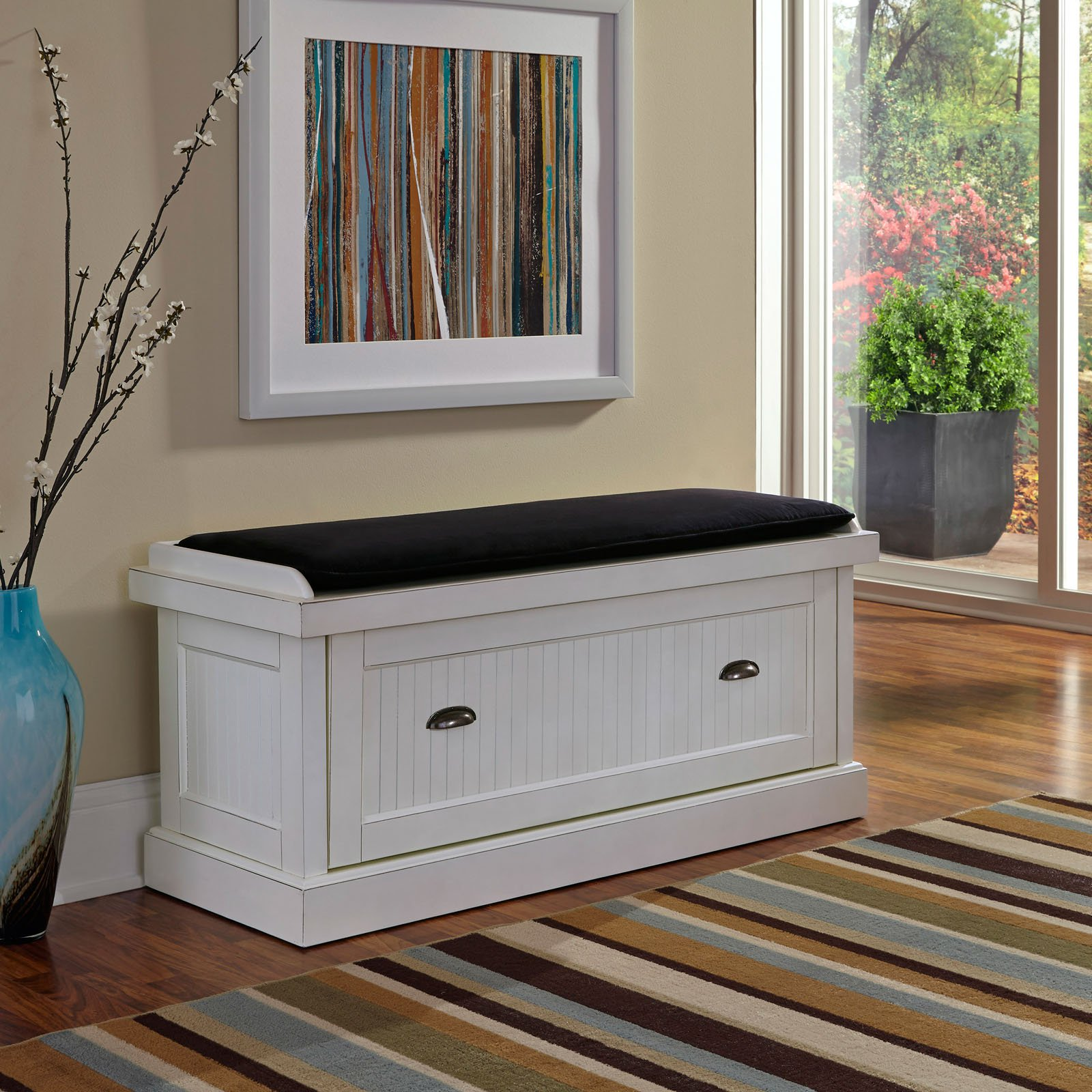 benches for living rooms pictures of beautifully decorated nantucket distressed white upholstered bench walmart com
