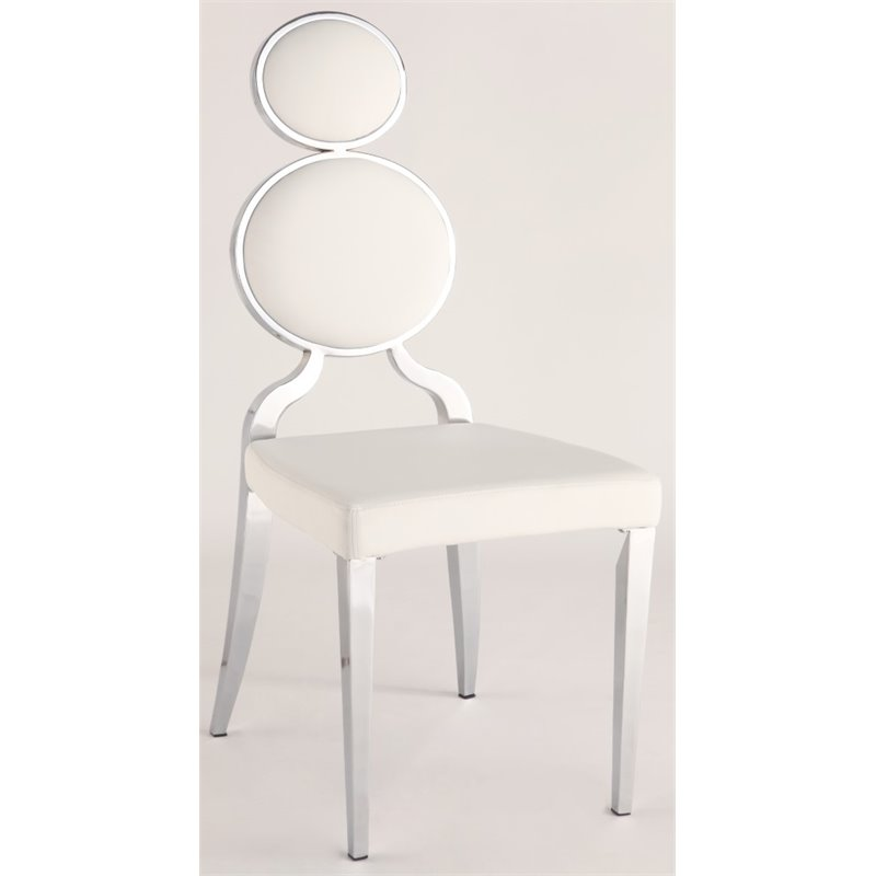 ring back dining chair swing hayneedle chintaly double in white set of 2 walmart com
