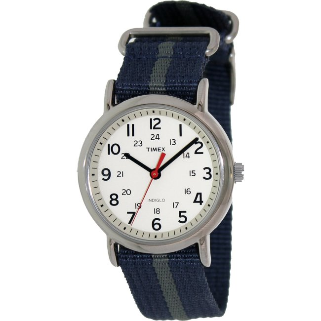 Timex Men's T2N654 Blue Nylon Analog Quartz Fashion Watch