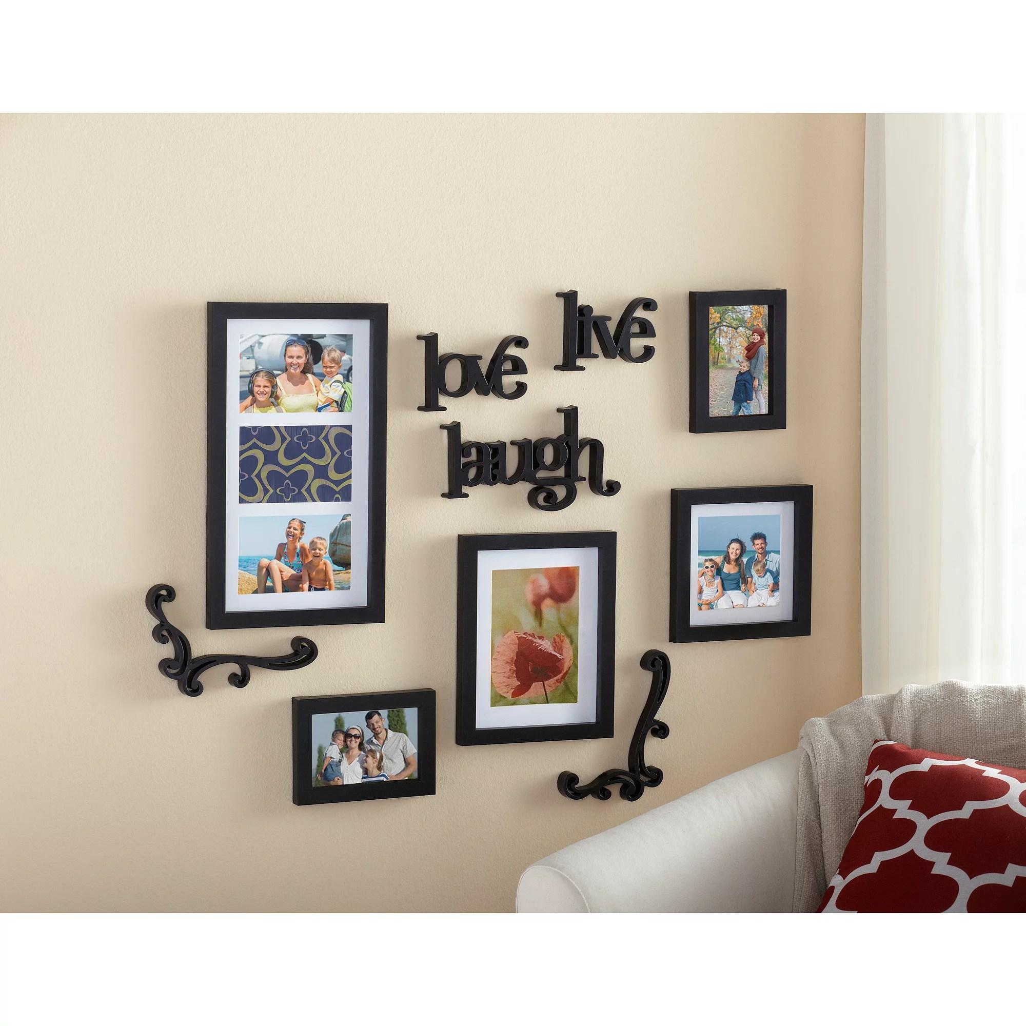 wall frames for living room with dark grey walls mainstays 10 piece expressions frame set walmart com