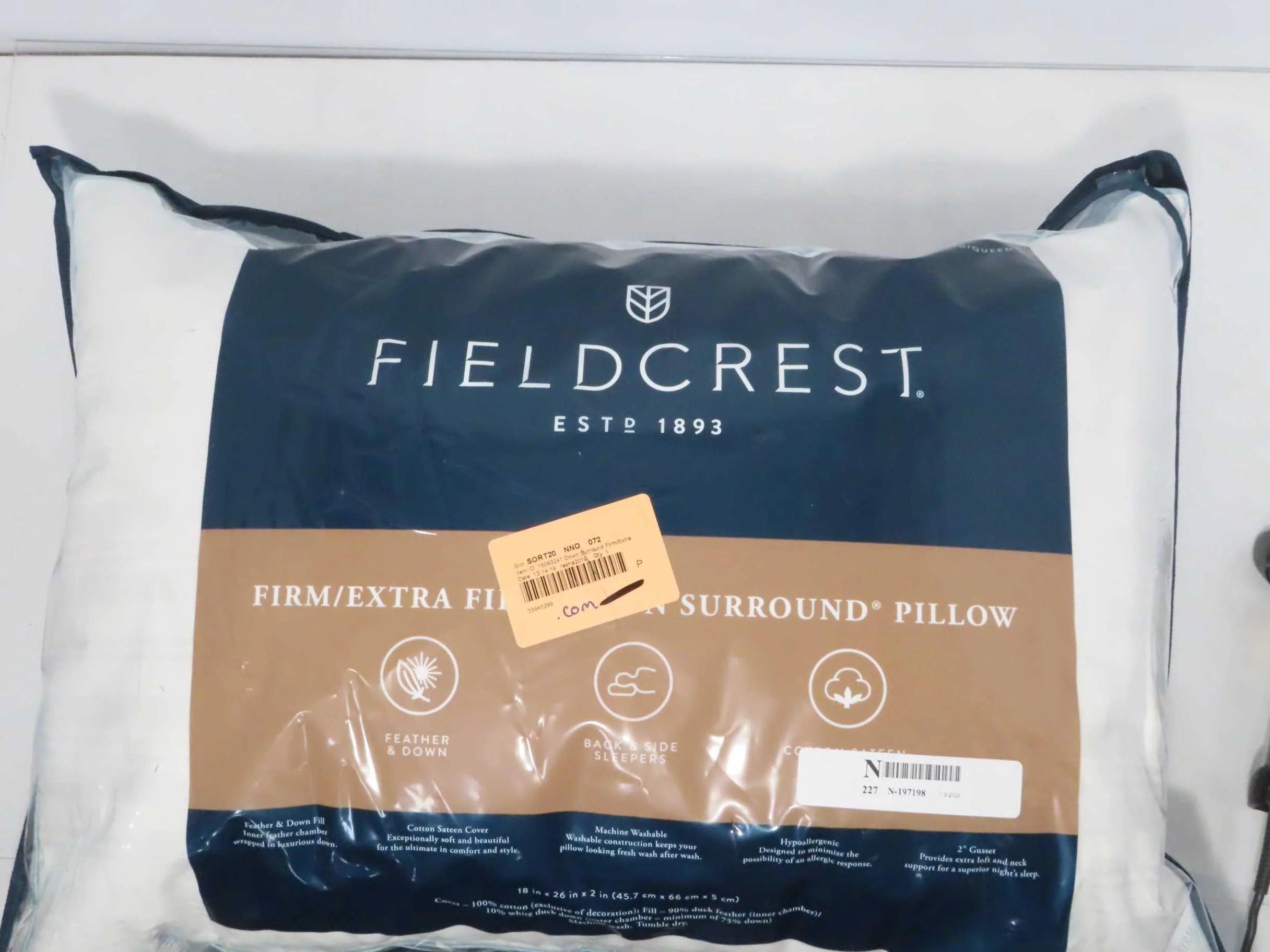 fieldcrest firm extra firm down