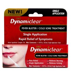 cold sore fever blister single use treatment by dynamiclear for rapid relief of herpes outbreak cold sores and fever bliters walmart com [ 1200 x 1200 Pixel ]