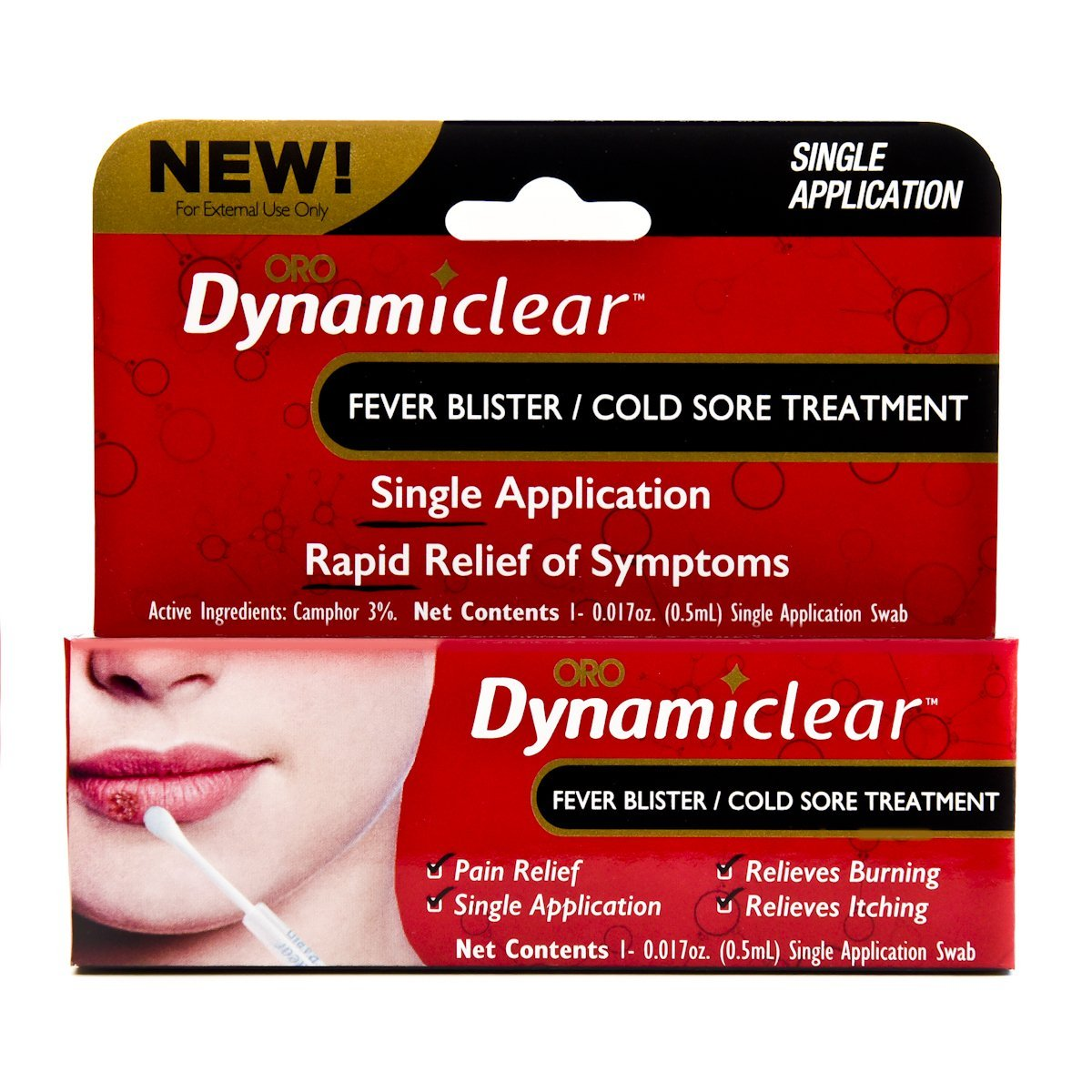 hight resolution of cold sore fever blister single use treatment by dynamiclear for rapid relief of herpes outbreak cold sores and fever bliters walmart com