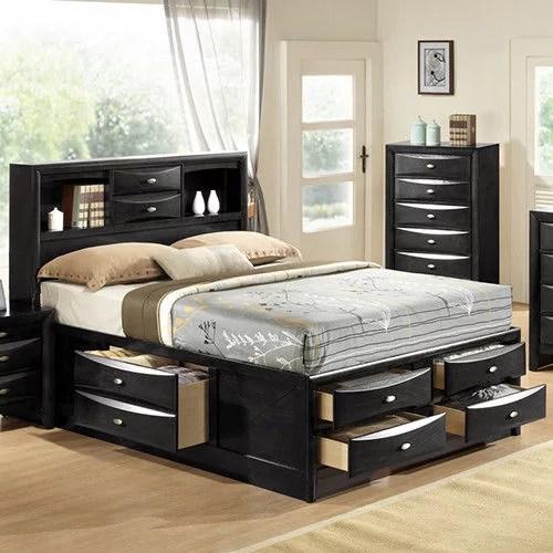 costway queen size bed storage bed