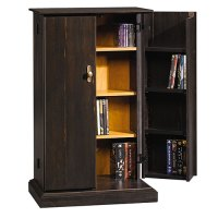 Sauder Multimedia Storage Cabinet - Antiqued Paint ...